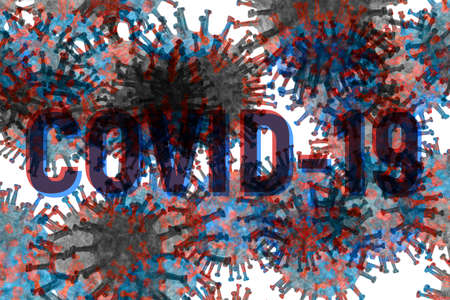 Corona Virus covid19 abstract composition for background use Banque d'images