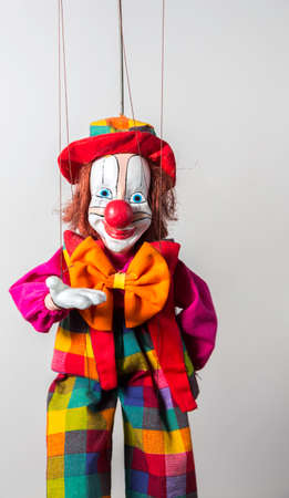 Colorful Welcoming Clown Puppet in Prague