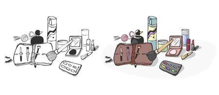 nail file: cosmetics Illustration