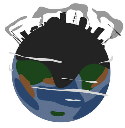 polluted: polluted earth