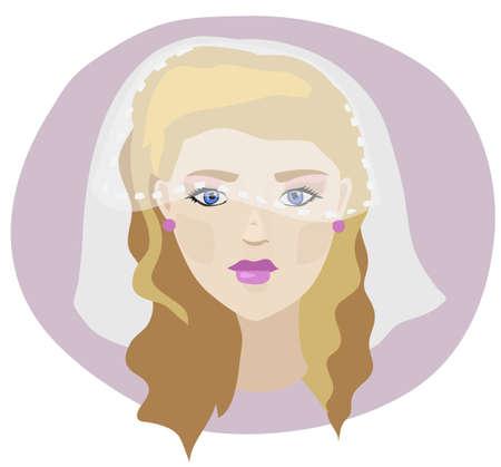 modesty: blondie bride Illustration