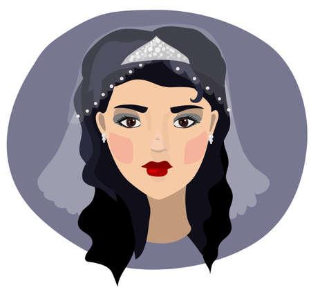 gentleness: brunette bride Illustration