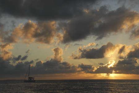 A sunset cruise, Bassas da India Stock Photo - 10626937