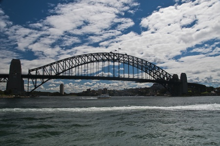 north shore: The view of the Sydney Harbour Bridge connecting the CBD and the North Shore, Sydney, Australia