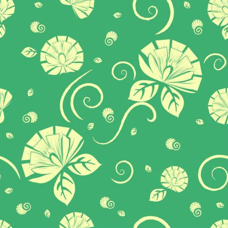 Repeat Pattern design of Flowers with square petals