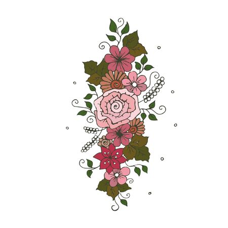 Bunch of flowers placement print