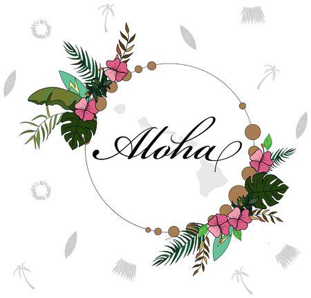 Aloha huwaii themed placement print
