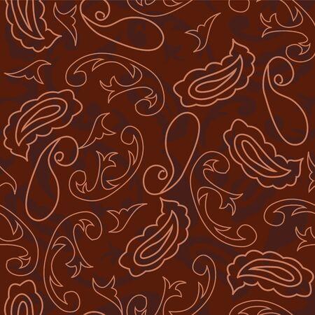 Maroon paisleys seamless repeat pattern