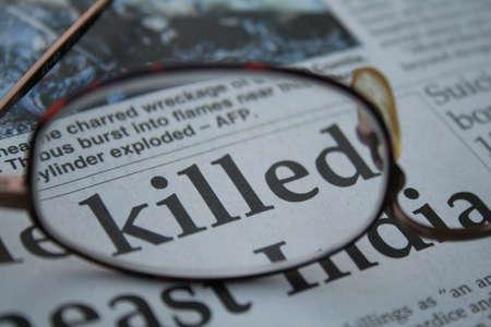 vermoord: gedood