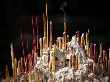 incense burning at a buddhist temple in China