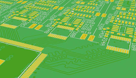 Making PCB is one of the stages of manufacture of the device photo