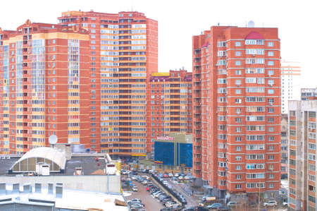 multi storey: multi-storey  houses in the city Editorial