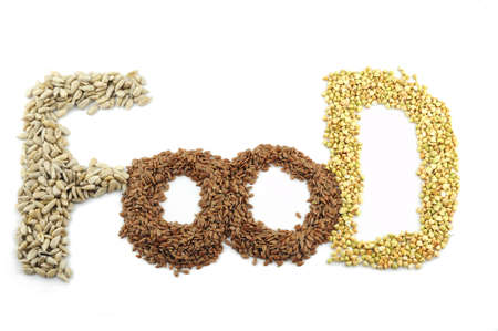 Cereals and seeds are the base of healthy food photo