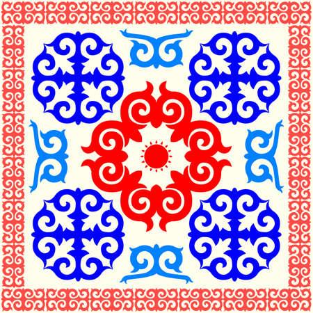 카자흐어 국가 장식 패턴의 집합