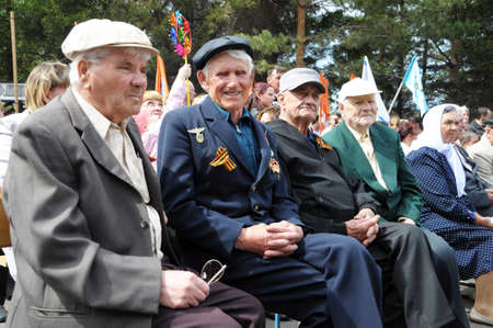 unknown age: The Unknown Veterans On The Victory Day in Russia