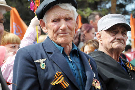 unknown age: The Unknown Veteran On The Victory Day in Russia