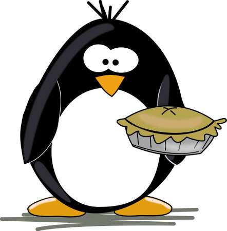 seabird: Penguin with pie