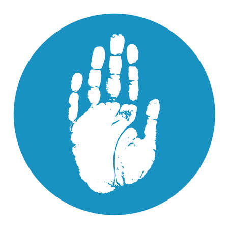 hand silhouette: Hand print icon Illustration