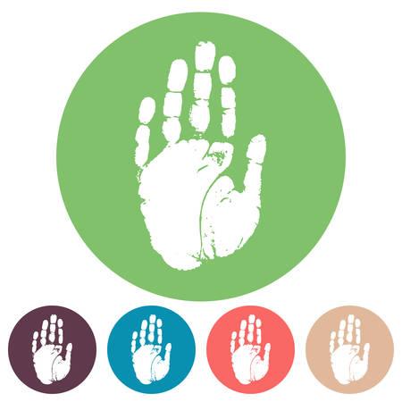hand print: Hand print icon set Illustration