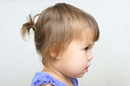 ponytail: Tiny ponytail style - baby girl first hair style