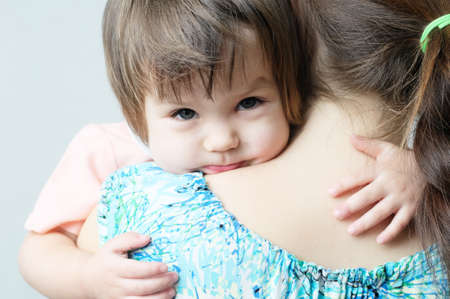 maternal: Mother hugging child, physical contact, family relationships, cuddling baby for physical affection, communicate happy daughter,happy childhood for little girl, mother holding child, lovely maternity