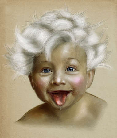 only baby girls: baby illustraton
