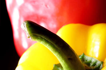 yellow and red bell pepper