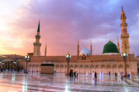 Al Masjid an Nabawi - Medina - Saudi Arabia - green dome Editorial