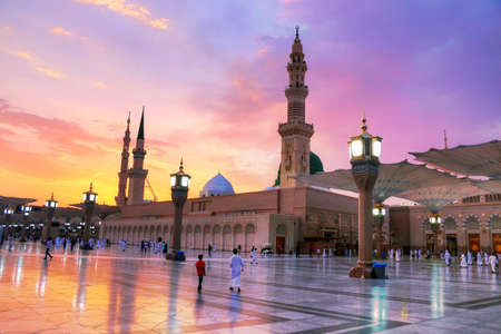 Al Masjid an Nabawi mosque - Medina Saudi Arabia 11 jul 2018 Editorial