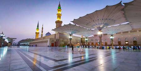 Medina/Saudi Arabia - 5 June 2020: Prophet Mohammed Mosque, Al Masjid an Nabawi