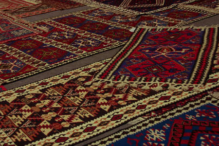 the kilims are handmade and contain very beautiful geometric patterns