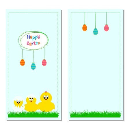 Cute easter card with place for greeting text Vector