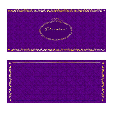 purple: Vintage greeting cards in retro style.