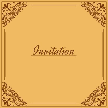 Vintage background, antique, victorian gold ornament, baroque frame,template for design photo