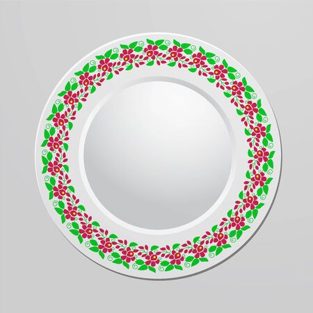 plate: Decorative plate with floral ornament