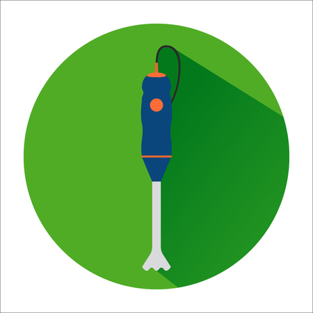 The icon with the image of blue hand blender in a green circle.