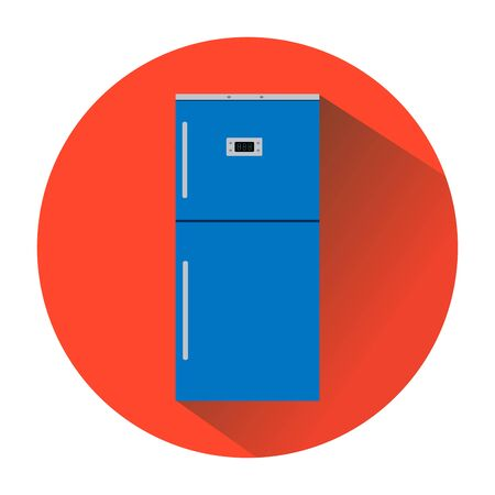 home products: icon blue refrigerator in the red circle.