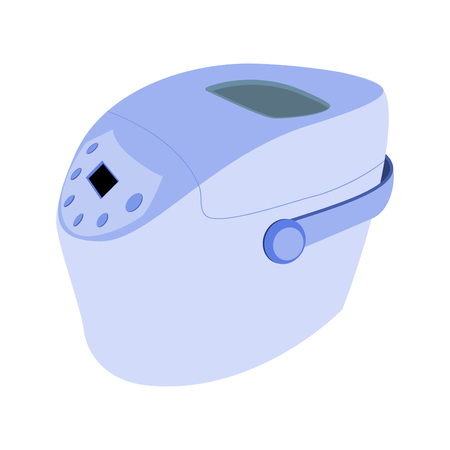 bread maker: bread maker blue color. isolated vector illustration Illustration