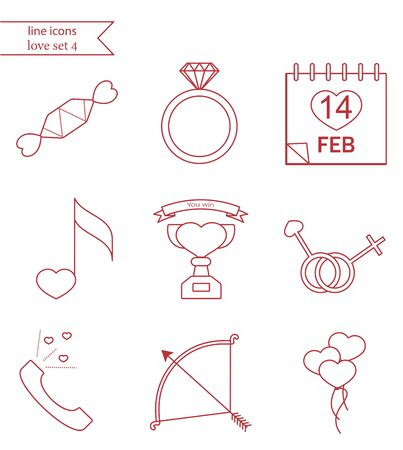 winning proposal: Vector line style icons.