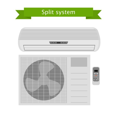 vent: Air conditioning on white background . Split system. isolated illustration.