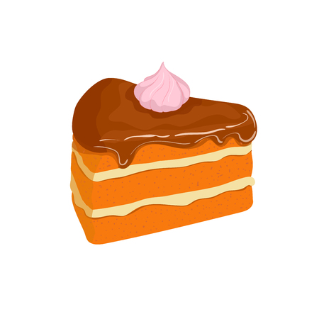 piece of cake: Piece of cake. Illustration