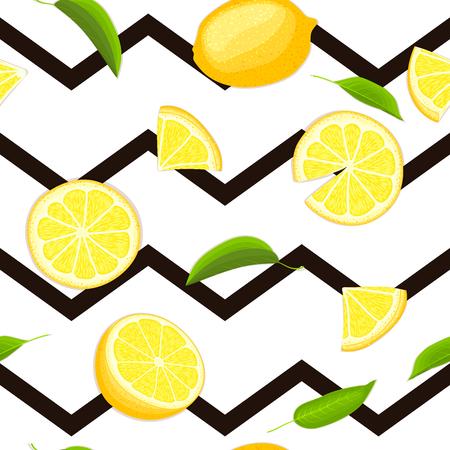 Ripe juicy tropical lemon striped background. Иллюстрация