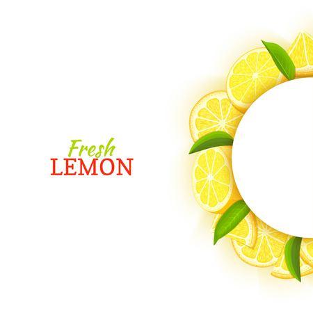 Cadre blanc demi-cercle composé de délicieux citron tropical. Banque d'images - 91959731