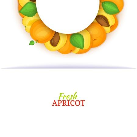 Demi-cercle couleur cadre composé de délicieux abricot fraise Banque d'images - 93549508