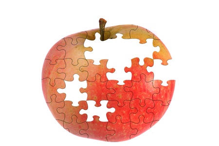 Jigsaw apple photo