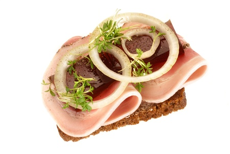 Danish open sandwiches, photo