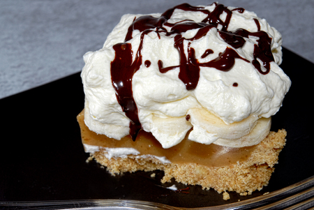 Banoffee, an English dessert photo