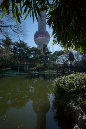 oriental pearl tower: Shanghai Oriental Pearl Tower Editorial