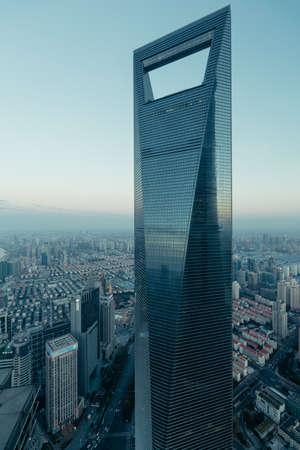 publicidad exterior: escenario de construcci�n Shanghai