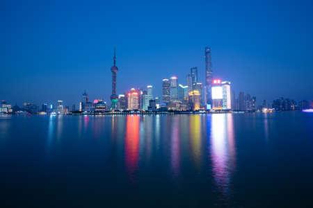 publicidad exterior: paisaje Shanghai Editorial